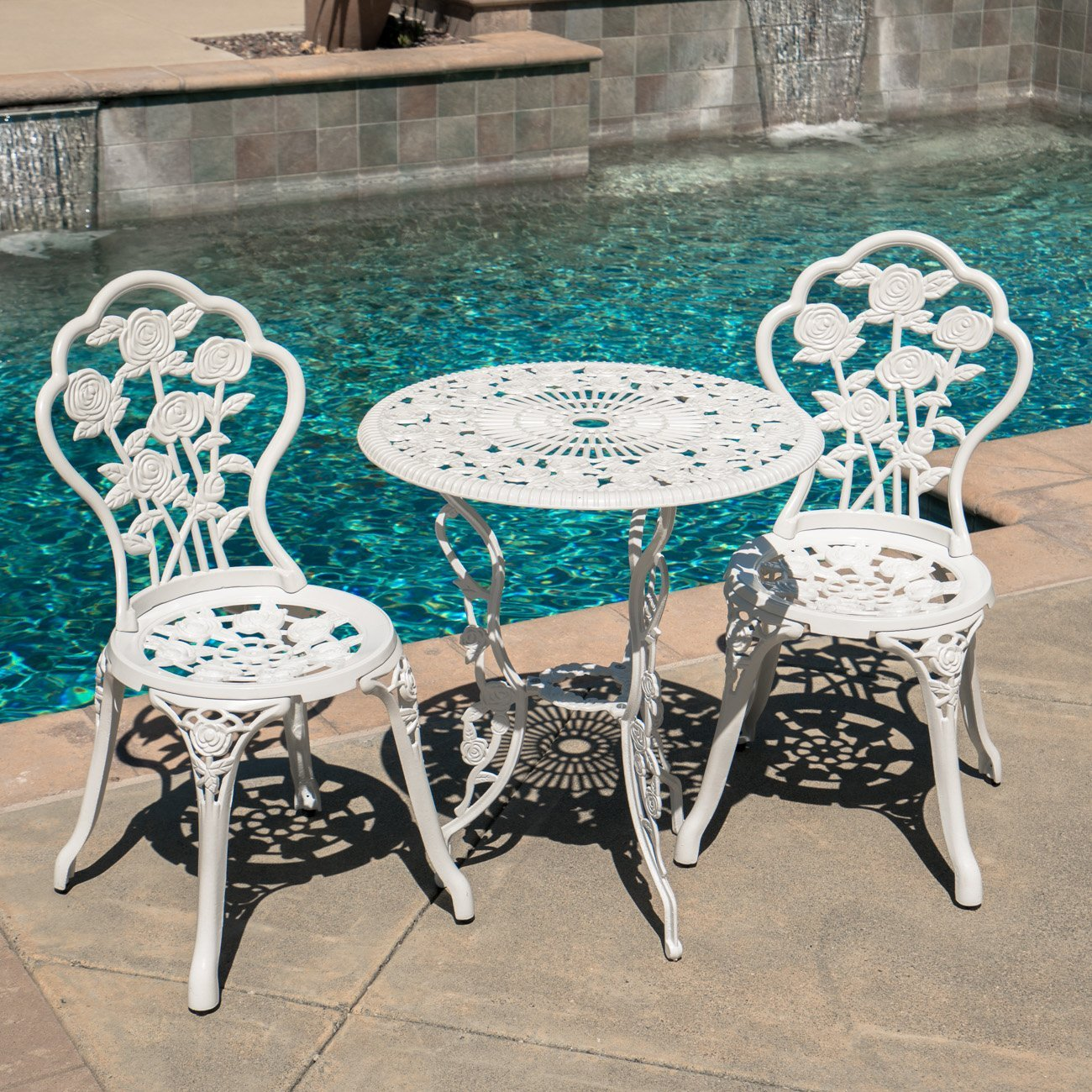 3 Piece White Bistro Sets