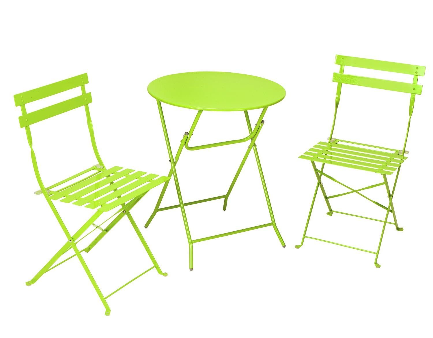 3-Piece Folding Metal Bistro Sets