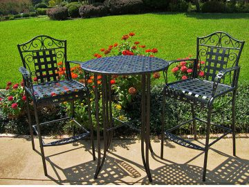 bar height outdoor bistro sets
