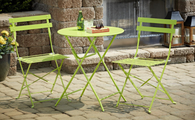 Outdoor Folding Metal Bistro Set Reviews