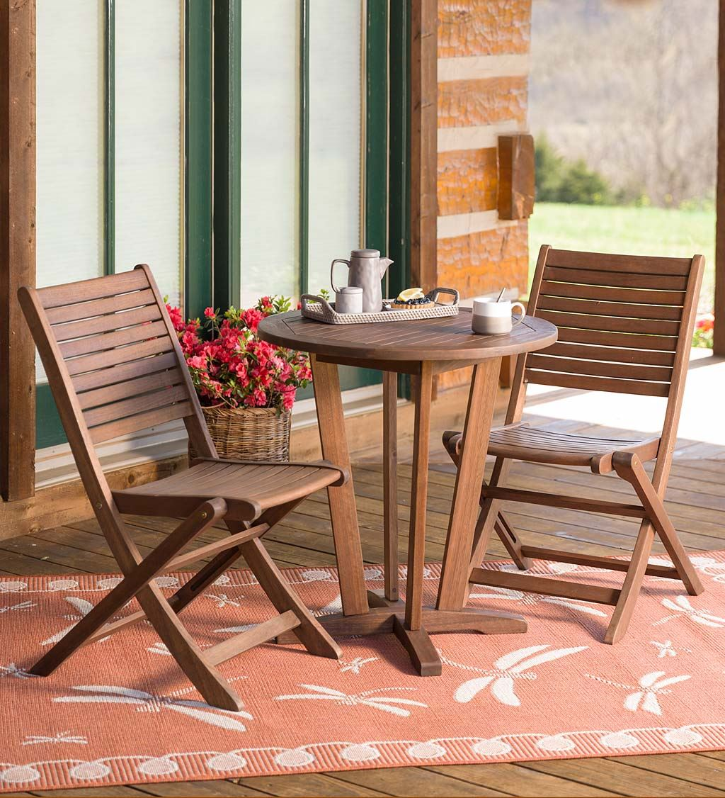Folding Wooden Garden Bistro Sets For The Outdoors U2013 Reviews