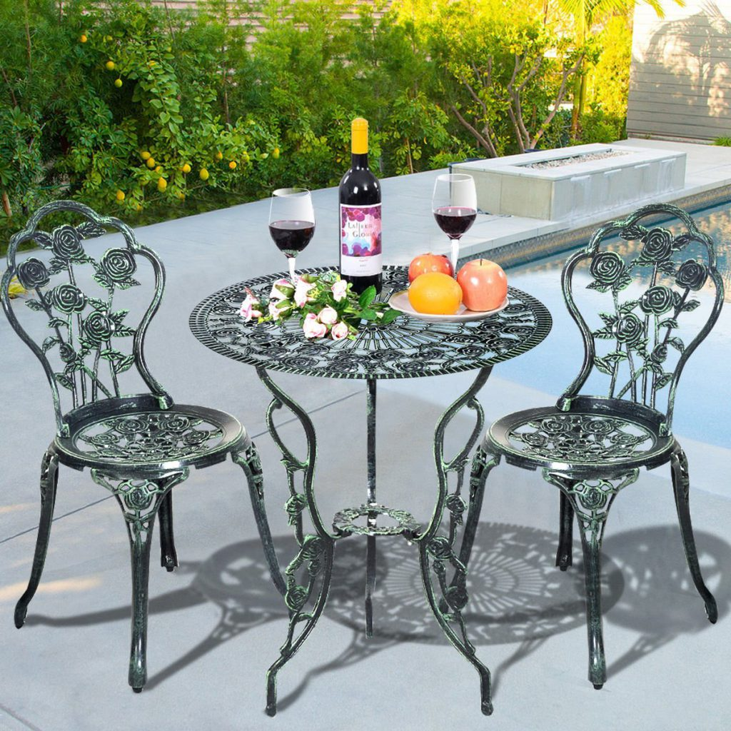 Rose 3-Piece Bistro Patio Sets - Reviews - Outdoor Patio ...